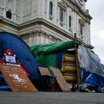 Occupy London protester camp, 98th day at St Paul's Cathedral