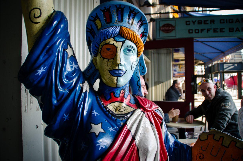 Lady Liberty pop-art version
