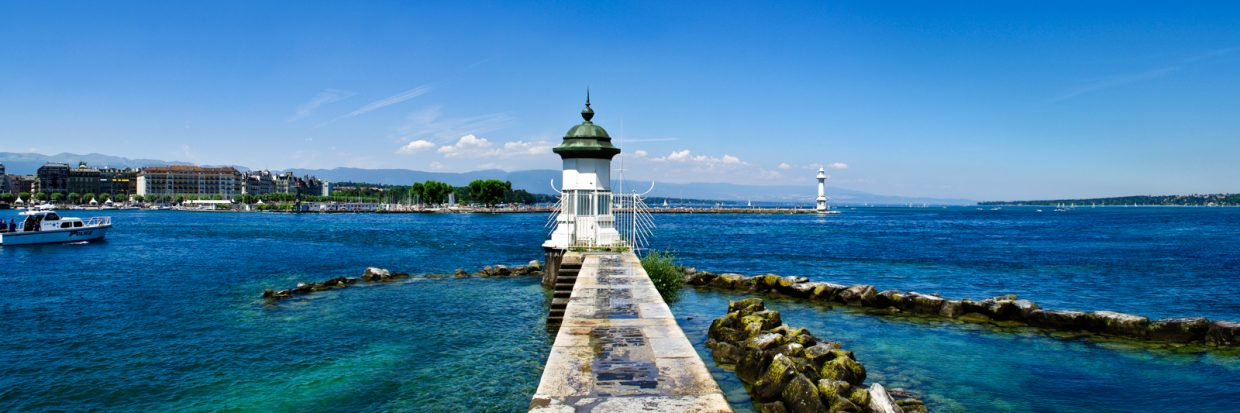 The Lake Léman a day of summer